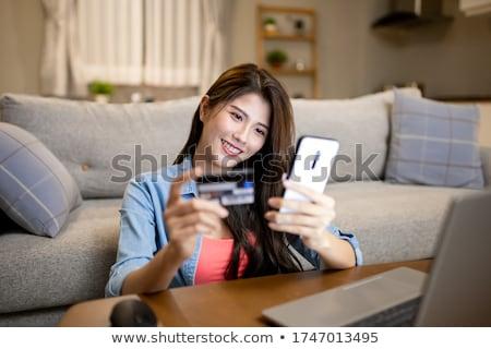 Cliente cartão de crédito chinês computador compras Foto stock © diego_cervo