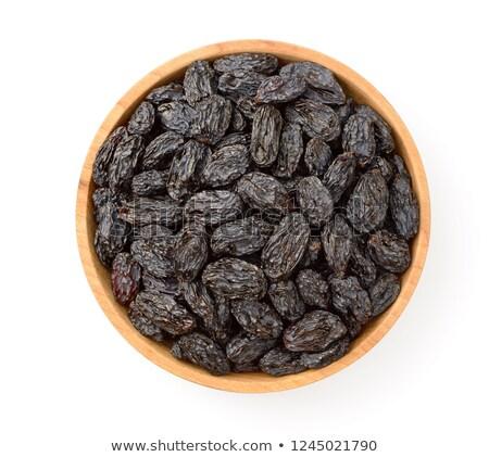 preto · passas · de · uva · escuro · comer · nutrição · orgânico - foto stock © ozaiachin