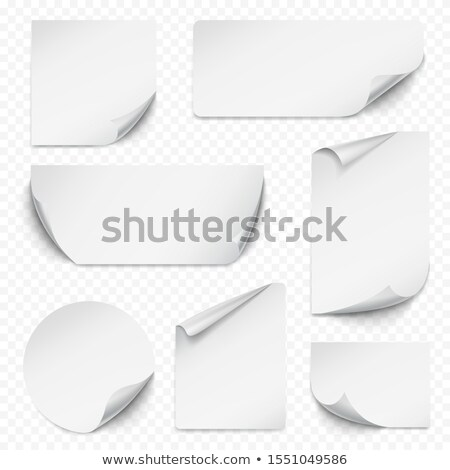 collection square sticker with curled up edge stock photo © zybr78