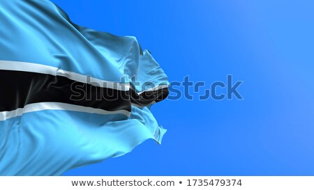 Waving Flag Of Botswana Сток-фото © Myvector