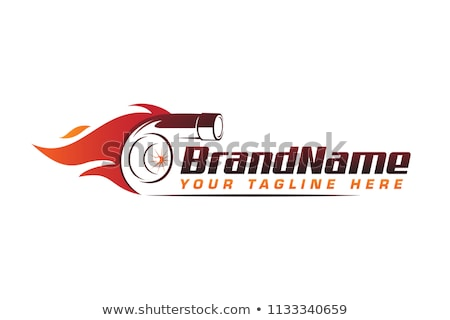 Motore emblema Racing ali nastro Foto d'archivio © Winner