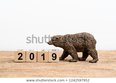 blackboard with bear and blocks Stock photo © lubavnel