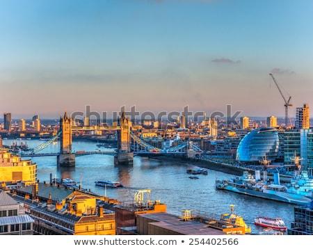 антенна · Cityscape · мнение · Лондон · панорамный · реке - Сток-фото © andreykr