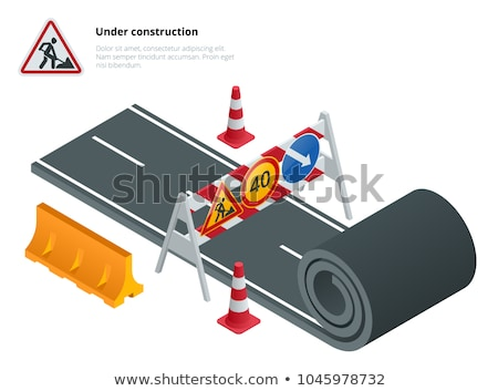 roadwork traffic signs stock photo © olandsfokus