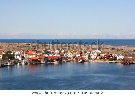 лодка · небольшой · красный · синий · коричневый - Сток-фото © master1305