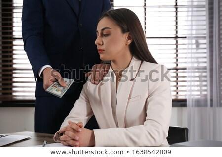 Corruzione uomo soldi donna top view Foto d'archivio © stevanovicigor