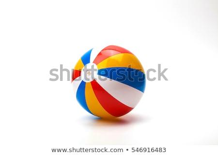 Czerwony siatkówka piłka odizolowany biały plaży Zdjęcia stock © tetkoren