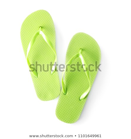 Verde praia sapatos isolado branco festa Foto stock © tetkoren