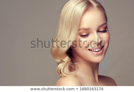 Foto stock: Belo · mulher · loira · elegante · jovem · bela · mulher · posando