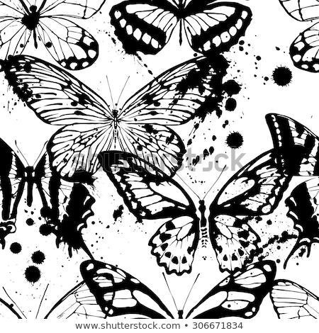 Seamless pattern. Black blots. Grunge background Stock photo © gladiolus