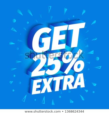 25 százalék kék vektor ikon terv Stock fotó © rizwanali3d
