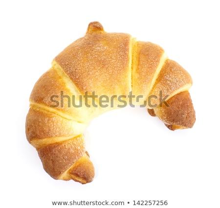 croissant · isolado · branco · trigo · café · da · manhã · alimentação - foto stock © ozaiachin