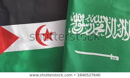 Arábia Saudita ocidental bandeiras quebra-cabeça isolado Foto stock © Istanbul2009