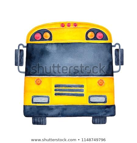 Kamyonet otobüs metin tur karikatür örnek Stok fotoğraf © ClipArtMascots