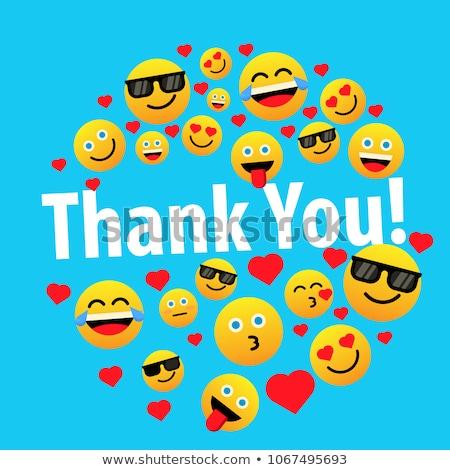 Thank You Violet Vector Icon Design Stock photo © rizwanali3d