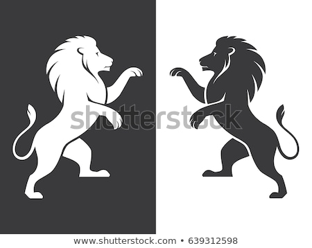 Black Standing Lion Stock photo © Genestro