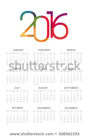 календаря 2016 белый вектора eps10 искусства Сток-фото © rommeo79