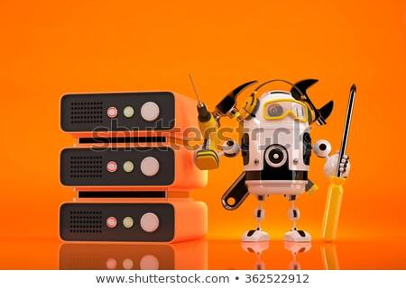 Roboter Techniker Wartung Server Mann Stock foto © Kirill_M