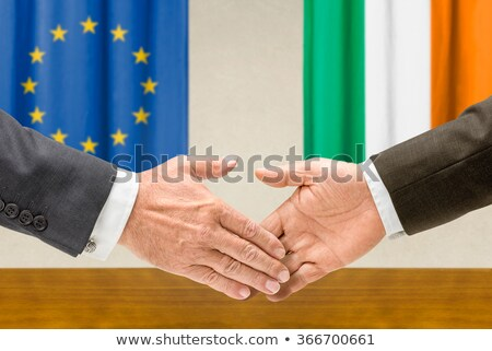 Representatives of the EU and Ireland shake hands Stock photo © Zerbor