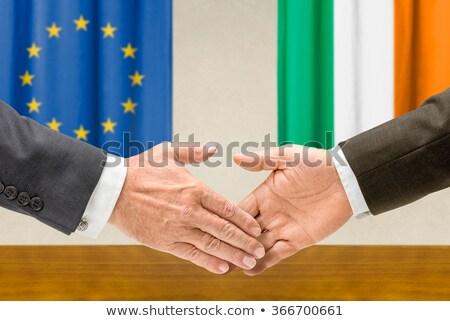 representatives of the eu and ireland shake hands stock photo © zerbor