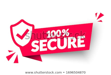 Protection 100 Percent Secure Red Shield Vector Icon Stock photo © rizwanali3d