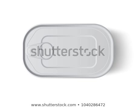 Stockfoto: Tin · kan · voedsel · vis · zee · staal