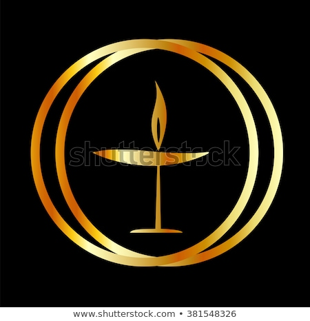 The Flaming Chalice- the symbol of Unitarianism and Unitarian Universalism  Stock photo © shawlinmohd