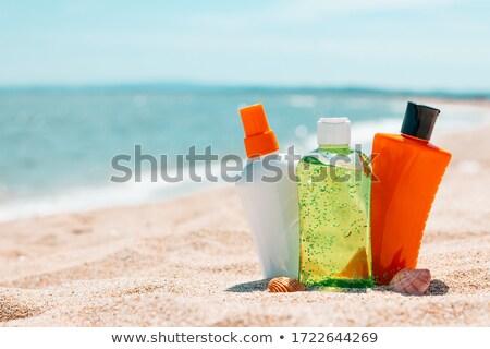 Solar loção praia ilustração sol mar Foto stock © adrenalina