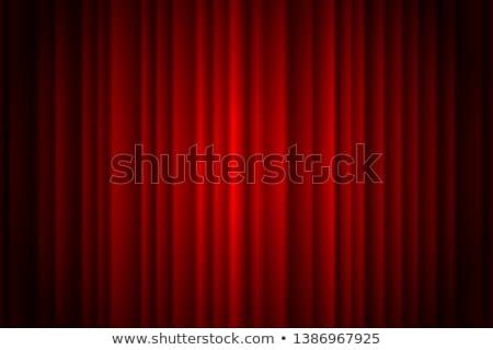 Rood gordijn plek licht eps 10 Stockfoto © beholdereye