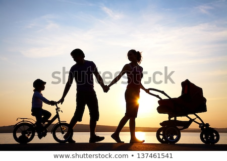 幸せ 子供 屋外 自然 良い 時間 ストックフォト © zurijeta