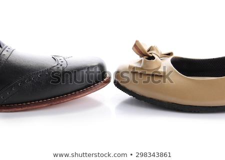 ブーツ · 孤立した · 白 · レトロな - ストックフォト © elnur