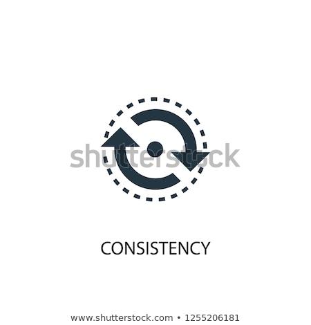 согласованность · три · красный · дартс · право · центр - Сток-фото © kenishirotie