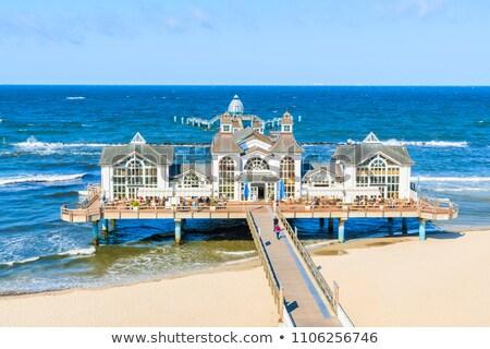Widoku plaży niebo morza piękna niebieski Zdjęcia stock © szabiphotography