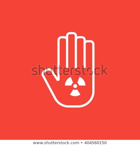 Radiazione segno line icona angoli web Foto d'archivio © RAStudio