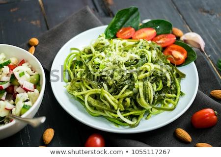 вегетарианский · пасты · штопор · помидоры · черри · сыра · красный - Сток-фото © Digifoodstock