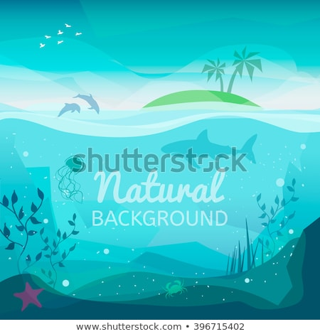Underwater landscape background, vector illustration Stock photo © carodi