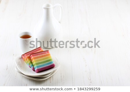 asian steamed rainbow layered rice cake Stock photo © zkruger