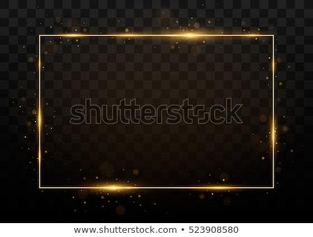 黒 金 フレーム 孤立した 白 木材 ストックフォト © plasticrobot