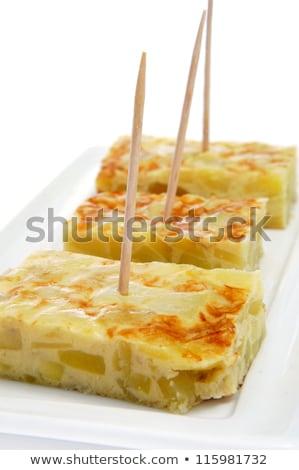 Tortilla espanol servido tapas primer plano placa Foto stock © nito