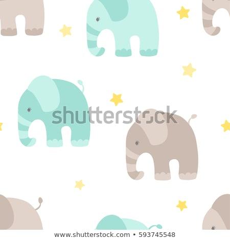 a starring young elephant stock photo © simoneeman