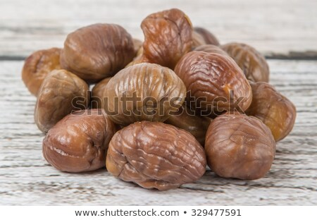 Peeled roasted chestnuts  Stock photo © Digifoodstock