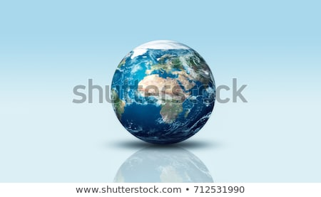 Stock fotó: Repülőgép · Föld · illusztráció · üzlet · Föld · kék