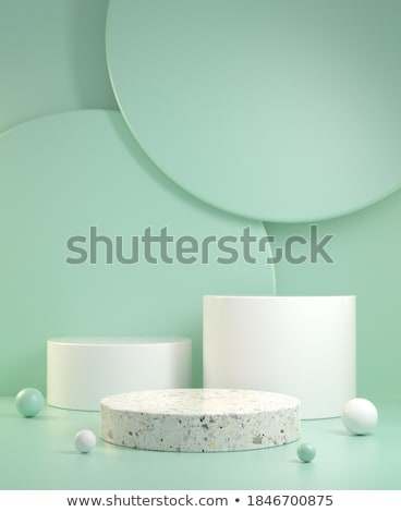 Green abstract steps Stock photo © MONARX3D