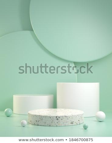 Vert résumé étapes groupe couleur blanche Photo stock © MONARX3D