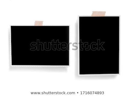 papel · en · blanco · Polaroid · papel · textura · amor - foto stock © saicle