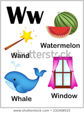 Flashcard letter W is for wand Stock photo © bluering