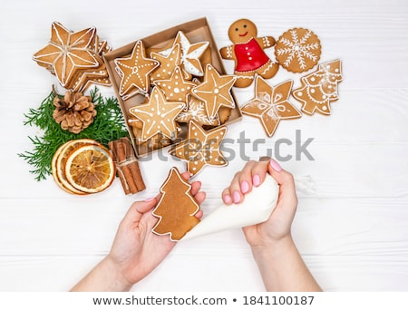 star shape gingerbread with icing Stock photo © M-studio