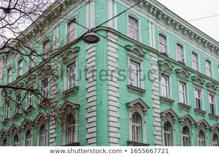 typical house corner in Vienna Austria Stock photo © magann