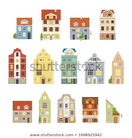 Mansion yellow vintage house vector illustration  Stock photo © vectorworks51