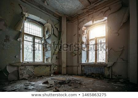 Venster verlaten huis textuur muur sneeuw Stockfoto © Nobilior